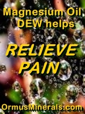 Ormus Minerals Magnesium Oil Dew Ormus Dew with Peppermint Essential Oil for Muscle Pain banner
